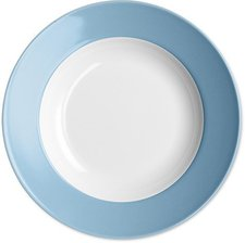 Dibbern Solid Color vintage blue Suppenteller 23 cm tief