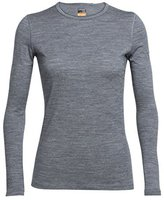 Icebreaker Oasis Long Sleeve Crewe Women metro heather / vino / vivid