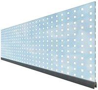 Brügmann TraumGarten Sichtschutzzaun System WPC Dekorprofile Theta 180 x 15 cm Glas