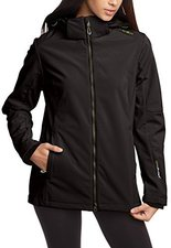 CMP Campagnolo Woman Softshell Jacket Zip Hood (3A22226) Nero-Forest