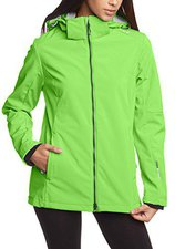 CMP Campagnolo Woman Softshell Jacket Zip Hood (3A22226) Frog-Metal-Antracite
