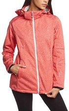 CMP Campagnolo Woman Softshell Jacket Zip Hood (3A22226) Campari Mel.-Metal
