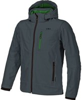CMP Campagnolo Man Softshell Jacket Zip Hood (3A01787) Antracite-Pepper Green