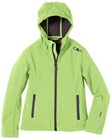 CMP Campagnolo Girls Softshell Jacket Fix Hood Frog-Metal-Antracite