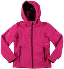 CMP Campagnolo Girls Softshell Jacket Fix Hood Scarlet-Porto