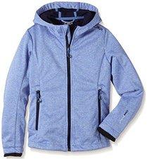 CMP Campagnolo Girls Softshell Jacket Fix Hood Persia Melange-Navy