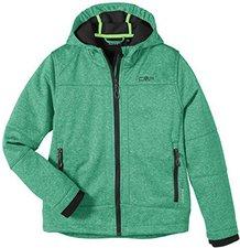 CMP Campagnolo Boys Softshelljacket Fix Hood (3A00094) Pepper Green Melange-Antracite