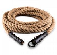 Klarfit Power Rope mit Haken 15m 3,3cm Hanf Seil Schwungtau Deckenbefestigung