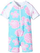 Snapperrock langärmeliger UV-Schutz Schwimmanzug Hibiscus