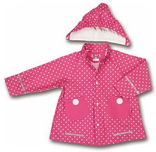 Playshoes Regen-Mantel Punkte pink