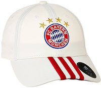 Adidas FC Bayern München 3 Streifen Kappe weiß