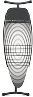 Brabantia Bügeltisch D/135x45 mit Wäscheablage - Metallic Black Titan Oval