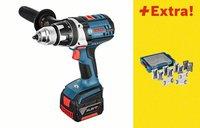 Bosch GSR 18 VE-2-LI Professional 2 x 4,0 Ah + L-Boxx + 131 tlg. Set (0 615 990 H15)