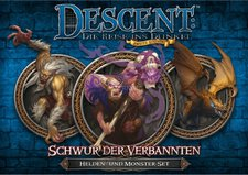 Heidelberger Spieleverlag Descent 2. Edition: Schwur der Verbannten: Helden- und Monster-Set