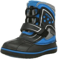 Crocs Kids AllCast Waterproof Duck Boot black/ocean