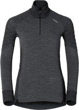 Odlo Revolution TW X-Warm Shirt L/S Turtle Neck 1/2 Zip Women black melange