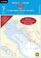 Delius Klasing Verlag Sportbootkarten: Satz 7: Venedig-Rijeka-Sibenik-Drvenik V. 2015