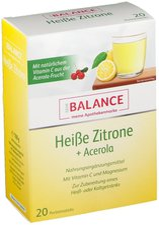 Geha Balance heiße Zitrone + Acerola Pulver (20 Stk.)