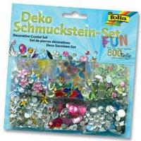 Folia Deko Schmuckstein-Set FUN