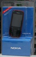 Nokia Asha 203 Dark Red ohne Vertrag