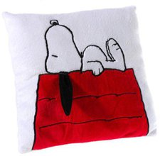 Heunec Snoopy auf Hütte 25 x 25 cm