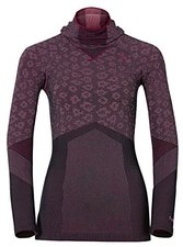 Odlo Blackcomb Evolution Warm Shirt l/s with Facemask Women magenta purple melange / black