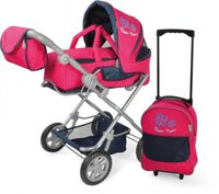 Knorr Luke mit Trolley - Flower Power Pink