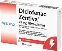 Winthrop Diclofenac Zentiva 25 mg Filmtabletten (20 Stk.)