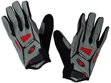 Lizard Skins Monitor - 1.0- Long Finger Gloves red
