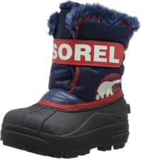 Sorel Snow Commander Youth Kids nocturnal/sail red