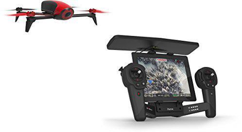 Parrot Bebop Drone 2 rot + Parrot Skycontroller schwarz