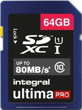 Integral UltimaPro SDXC 80MB Class 10 UHS-I U1 - 64GB