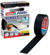 Tesa extra Power Perfect Gewebeband 2,75m x 19mm schwarz