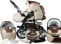 Bergsteiger-Kinderwagen Milano Coffee & Brown