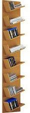 VCM CD/DVD-Regal Lansi Maxi Buche (180x33x16cm)