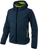 CMP Campagnolo Boys Softshelljacket Fix Hood (3A00094) Navy Melange-Cedro