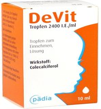 Pädia Arzneimittel Devit 2400 I.E. / ml Tropfen zum Einnehmen (10 ml)
