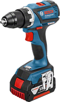 Bosch GSR 18 V-EC Professional 2 x 4,0 Ah + 31-tlg. Wiha-Werkzeug-Set (0 615 990 H5D)