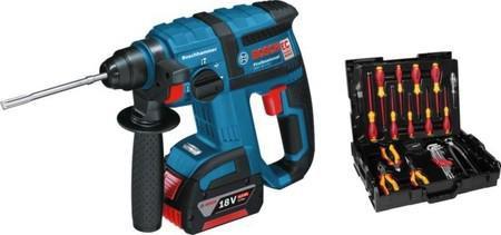 Bosch GBH 18 V-EC Professional 2 x 4,0 Ah + 31-tlg. Wiha-Werkzeug-Set (0 615 990 H4U)