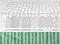 Angerer Balkonbespannung PE 75cm x 6m Blockstreifen grün