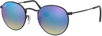 Ray Ban Round Metal RB3447 002/4O (black/mirror gradient blue)