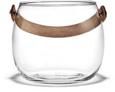 Holmegaard Glasschale mit Lederhenkel Ø 15 cm