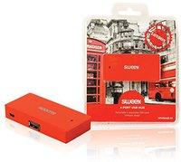 Sweex 4 Port USB 2.0 Hub London rot