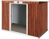 Tepro Pent Roof PD 6 x 4 Set Holzoptik (203 x 124 cm)