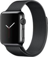 Apple Watch 38mm Milanaise Edelstahlarmband schwarz