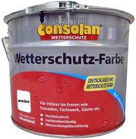 Consolan Profi Wetterschutz-Farbe weiß 10 l