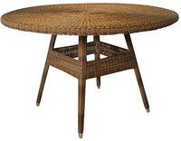 Stern Tisch Geflecht camel Loomoptik Glasplatte 120cm (419513)