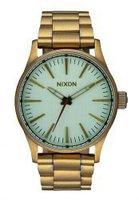 Nixon Sentry 38 SS all brass/green crystal