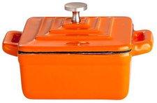 Paella World Gusstopf mit Deckel 9,5 x 9,5 x 4,5 cm orange