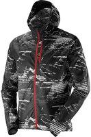 Salomon Fast Wing Graphic Hoodie M black / galet grey